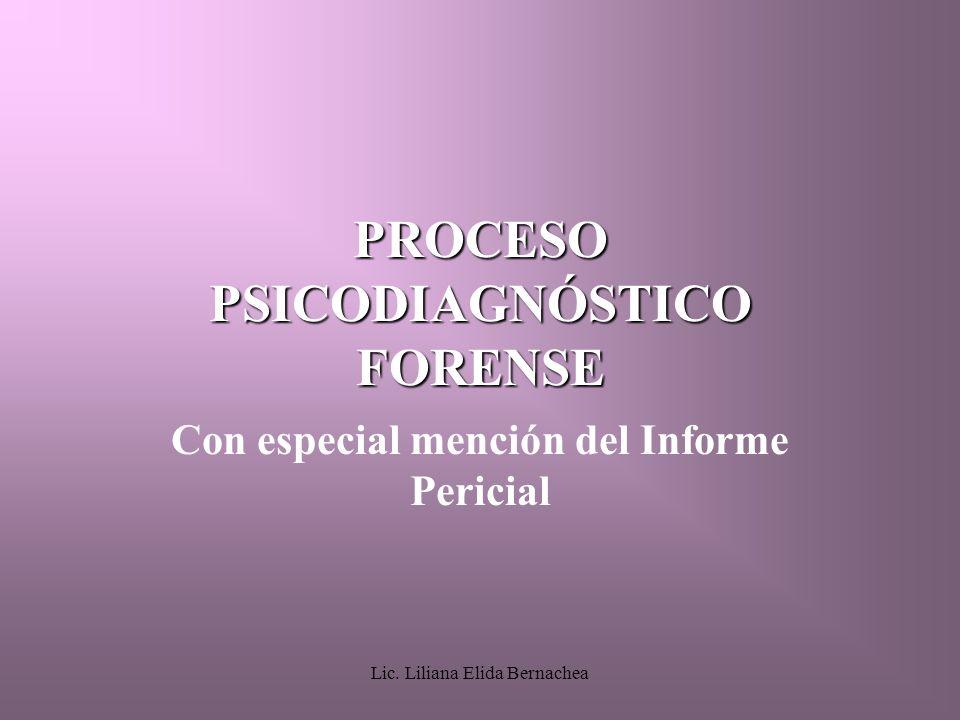 PROCESO PSICODIAGNÓSTICO FORENSE