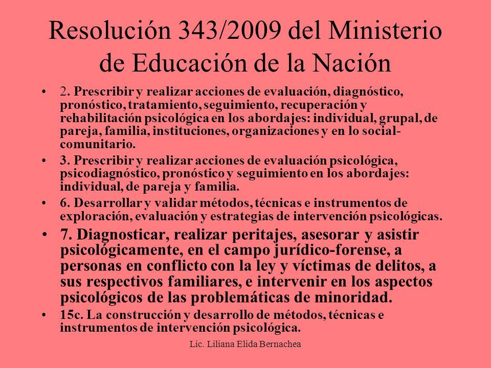 Resolución 343/2009 del Ministerio de Educación de la Nación