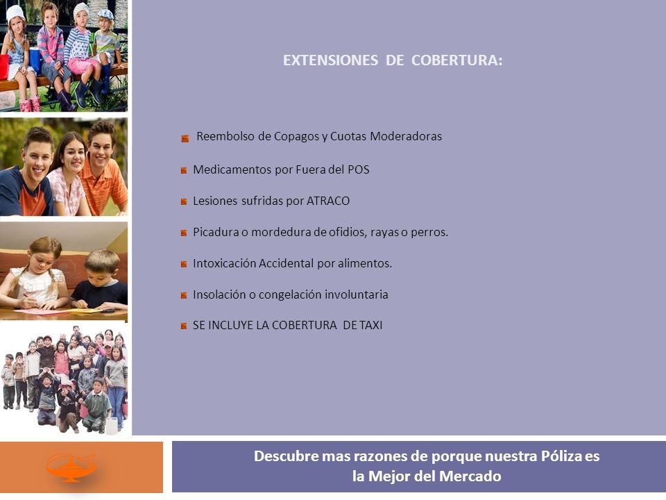 EXTENSIONES DE COBERTURA:
