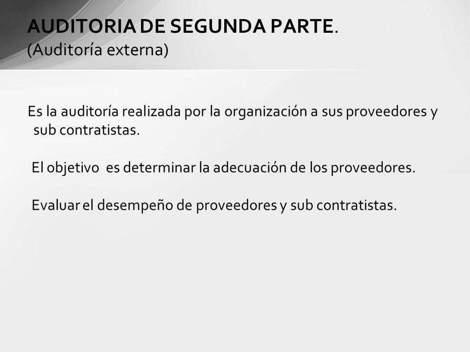AUDITORIA DE SEGUNDA PARTE. (Auditoría externa)