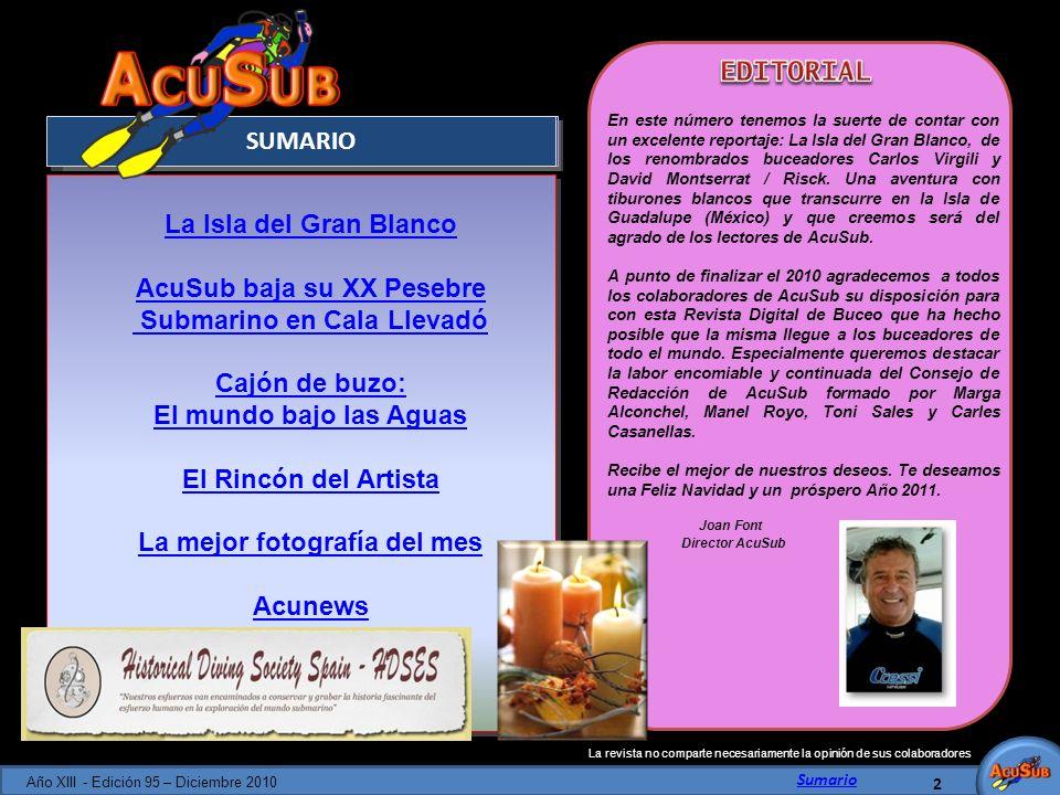 AcuSub baja su XX Pesebre Submarino en Cala Llevadó Cajón de buzo: