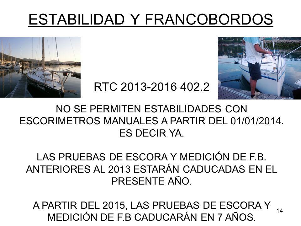 ESTABILIDAD Y FRANCOBORDOS