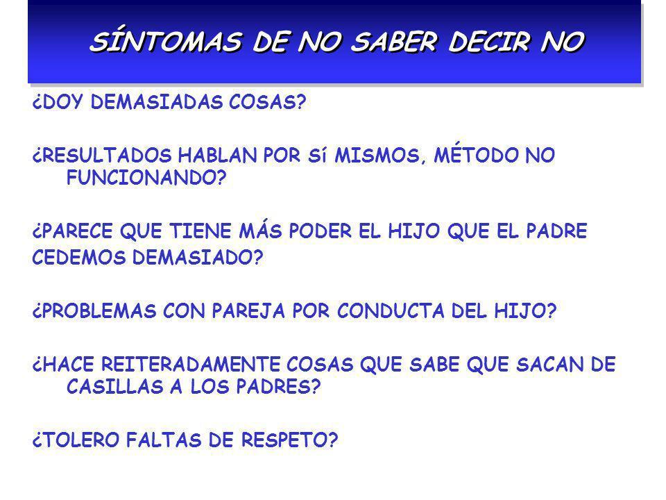 SÍNTOMAS DE NO SABER DECIR NO