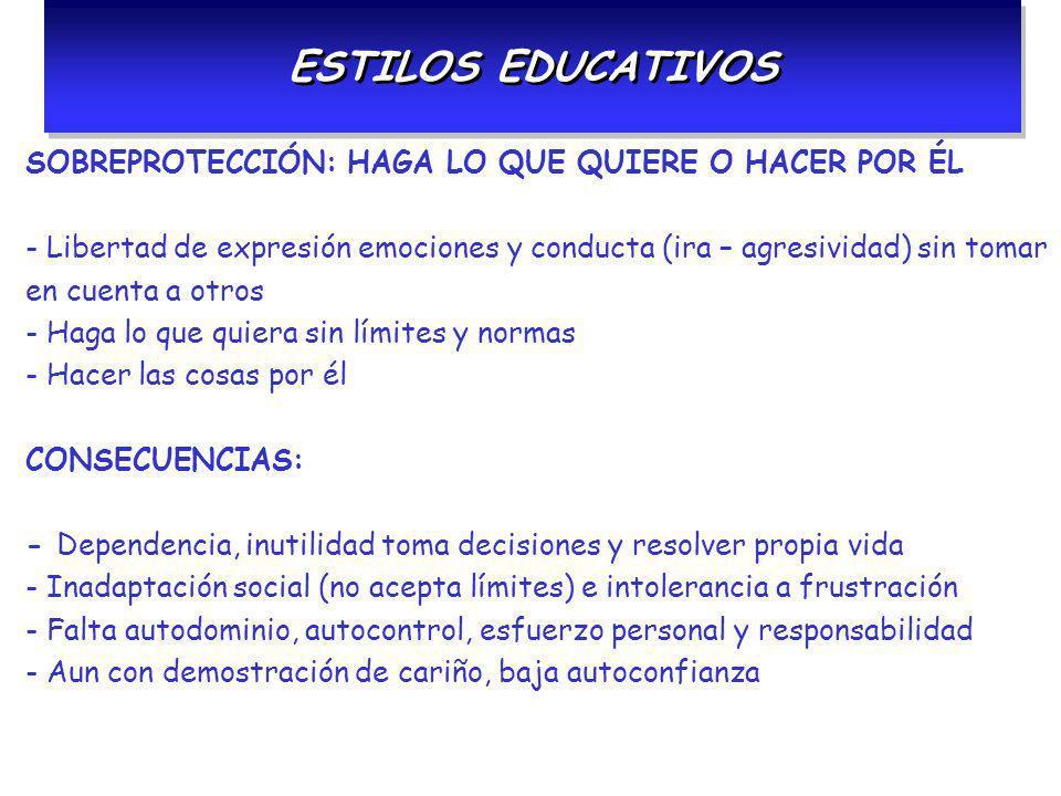 ESTILOS EDUCATIVOS SOBREPROTECCIÓN: HAGA LO QUE QUIERE O HACER POR ÉL