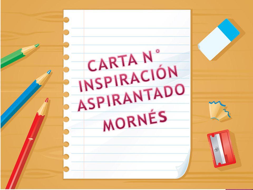 INSPIRACIÓN ASPIRANTADO MORNÉs