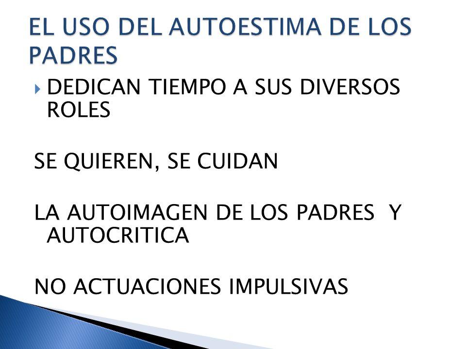 EL USO DEL AUTOESTIMA DE LOS PADRES