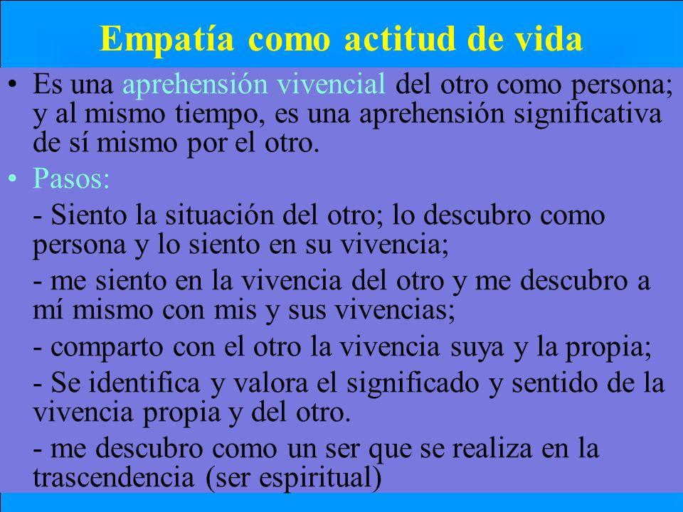 Empatía como actitud de vida