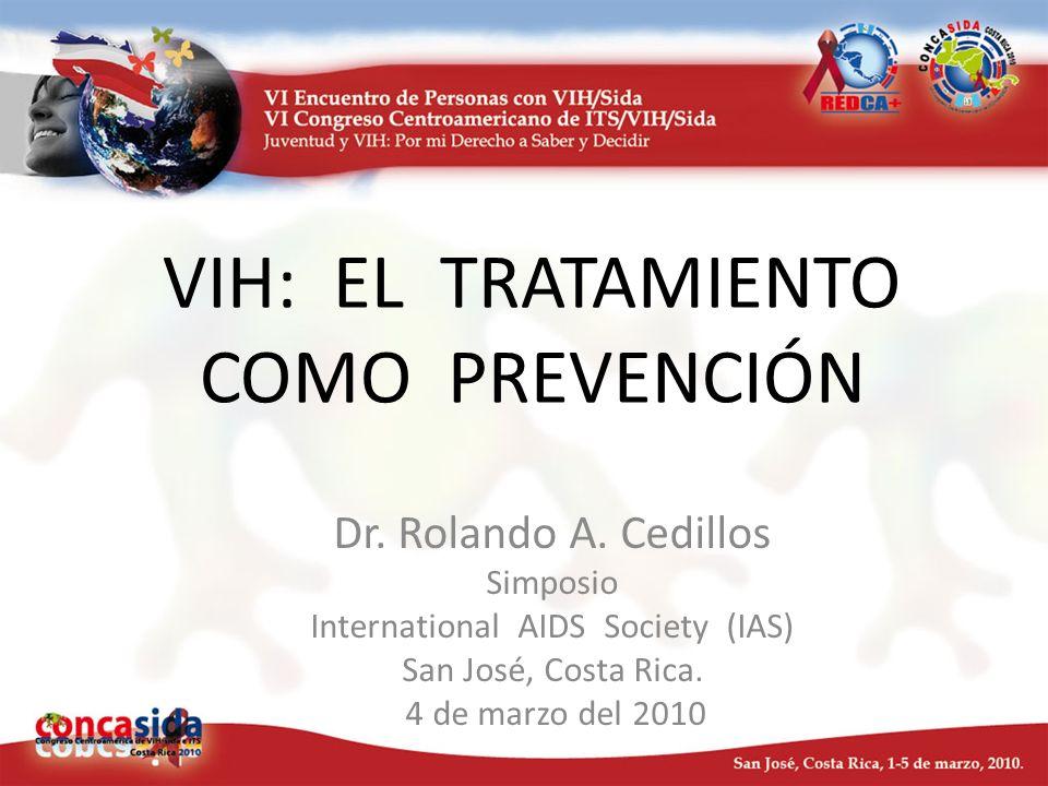 VIH: EL TRATAMIENTO COMO PREVENCIÓN