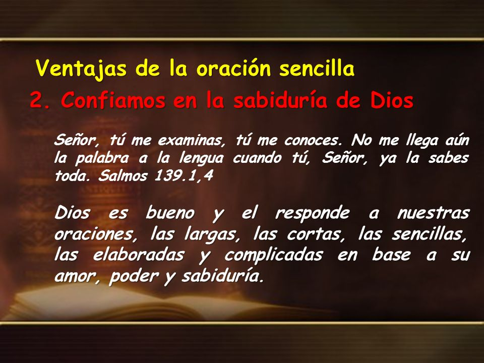 Ventajas de la oración sencilla