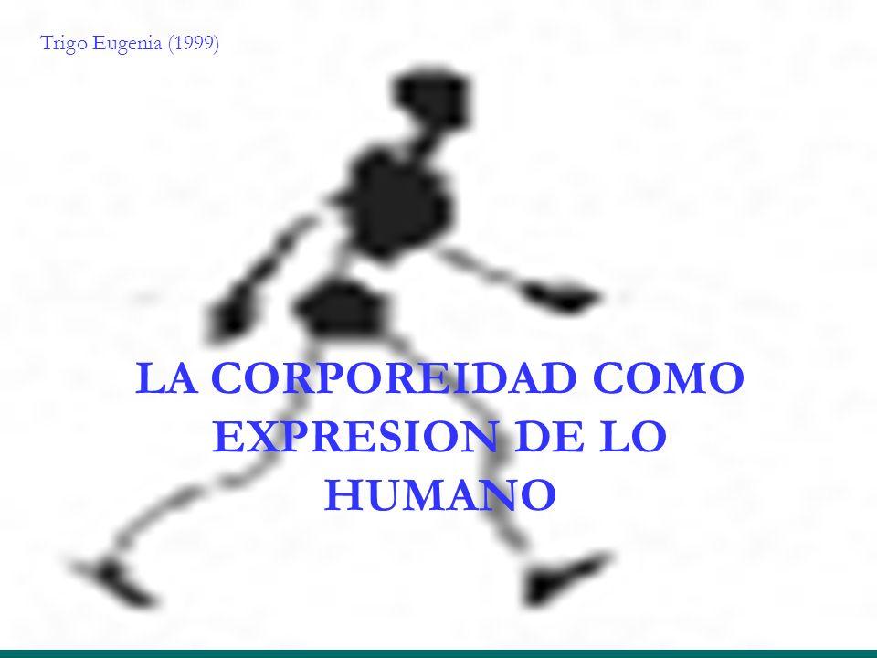 LA CORPOREIDAD COMO EXPRESION DE LO HUMANO