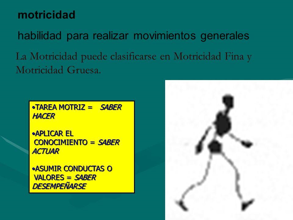 habilidad para realizar movimientos generales