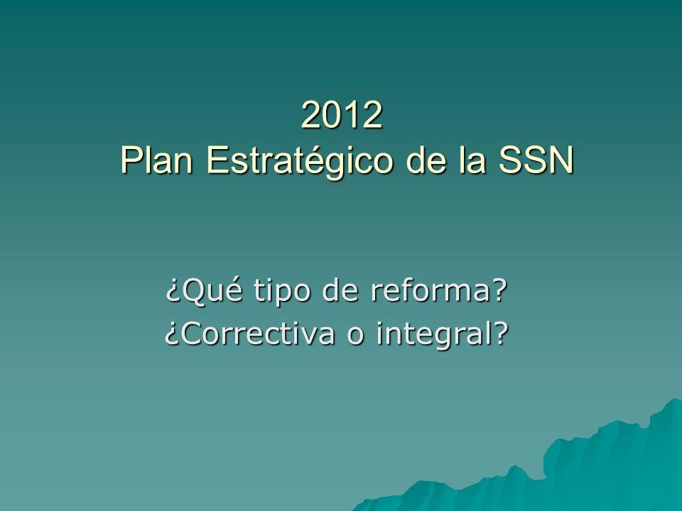2012 Plan Estratégico de la SSN
