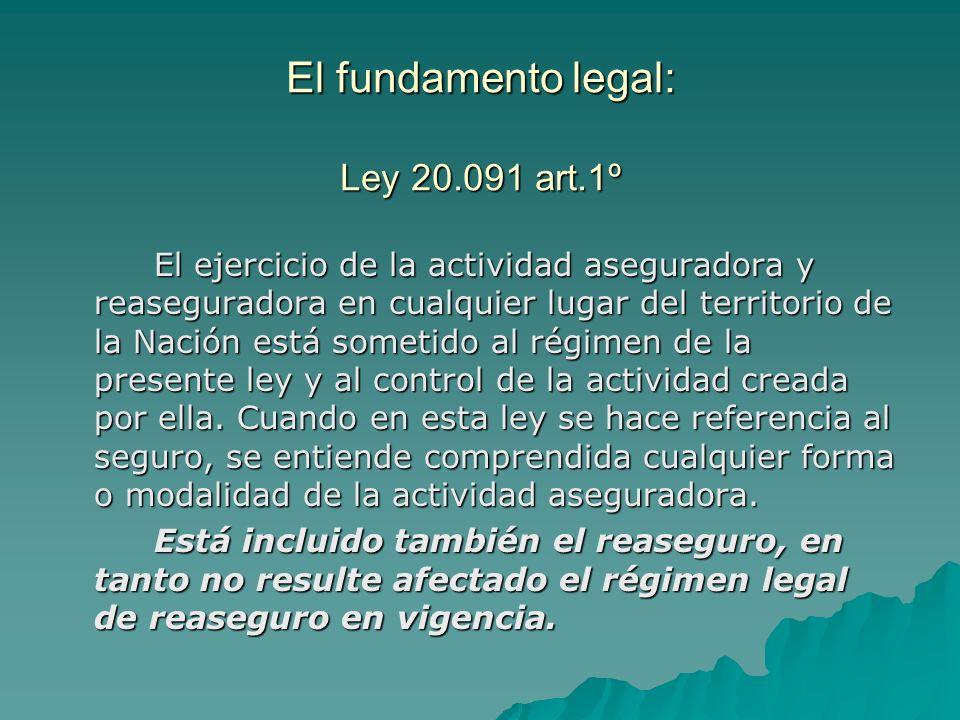 El fundamento legal: Ley 20.091 art.1º