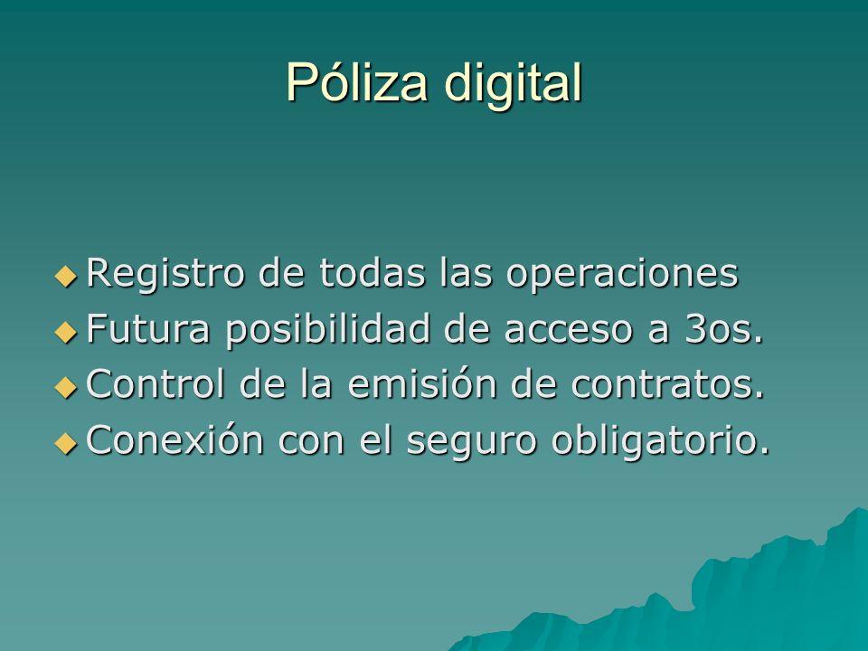 Póliza digital Registro de todas las operaciones