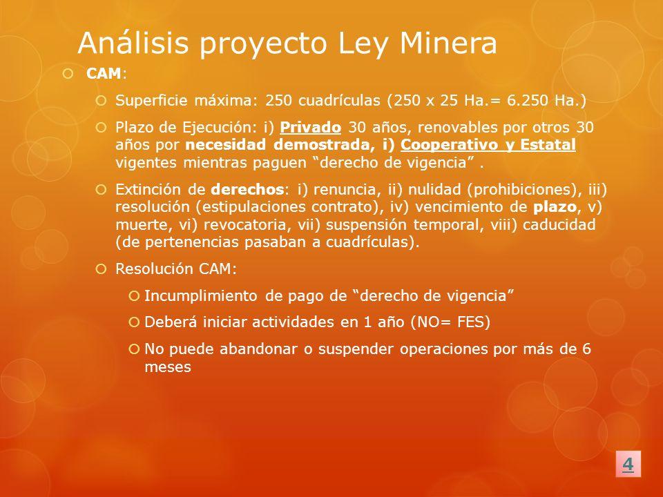 Análisis proyecto Ley Minera