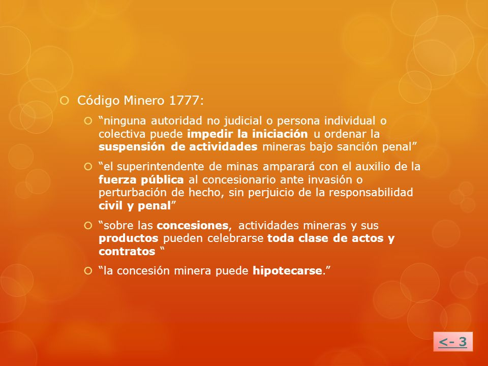 Código Minero 1777: