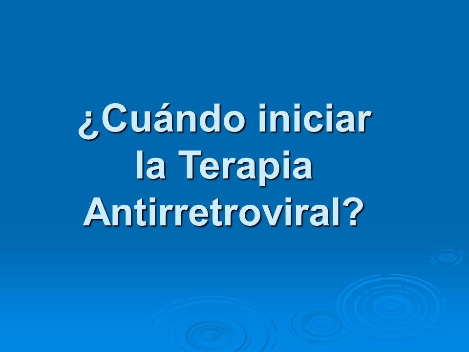 ¿Cuándo iniciar la Terapia Antirretroviral