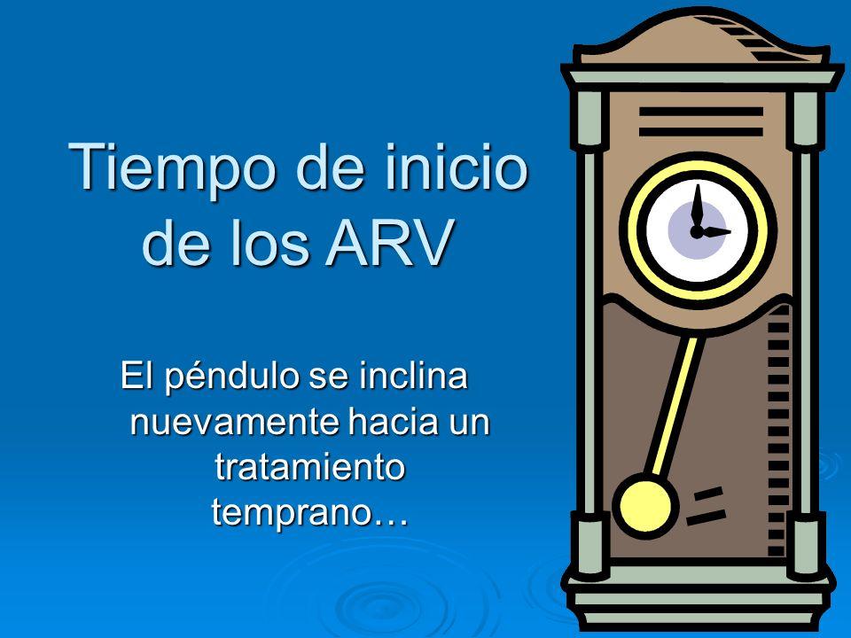 Tiempo de inicio de los ARV