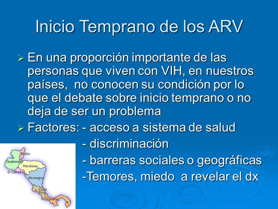 Inicio Temprano de los ARV