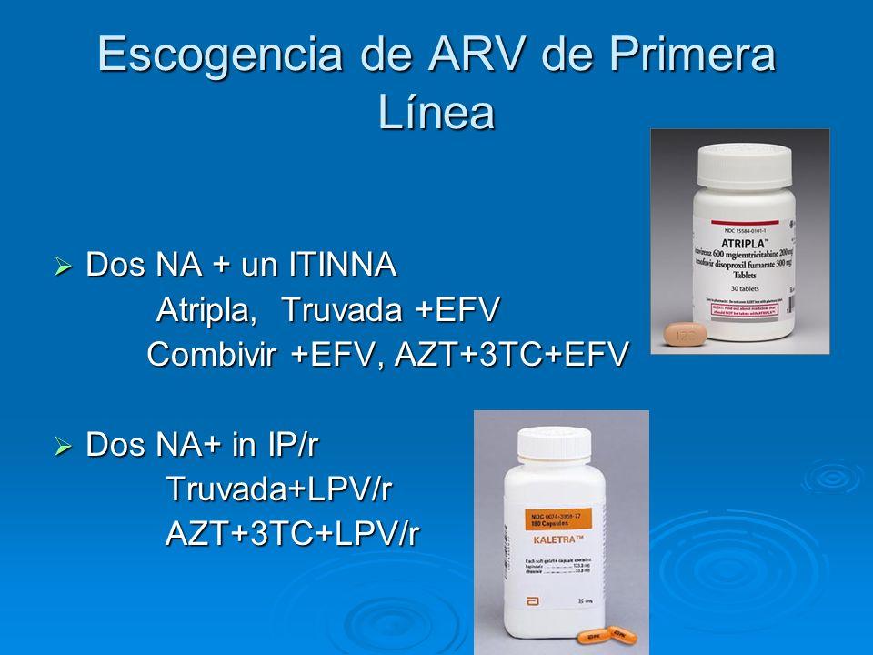 Escogencia de ARV de Primera Línea