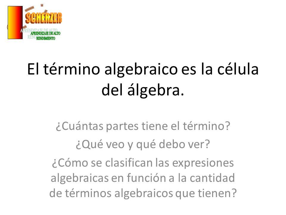 El término algebraico es la célula del álgebra.