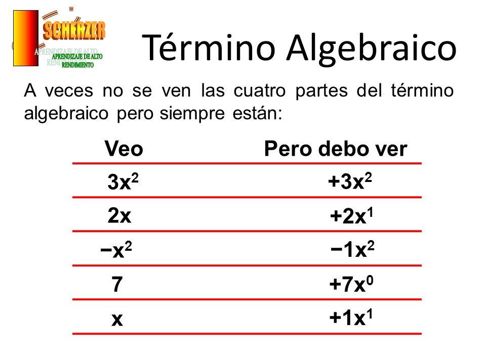Término Algebraico SCHERZER APRENDIZAJE DE ALTO RENDIMIENTO Veo