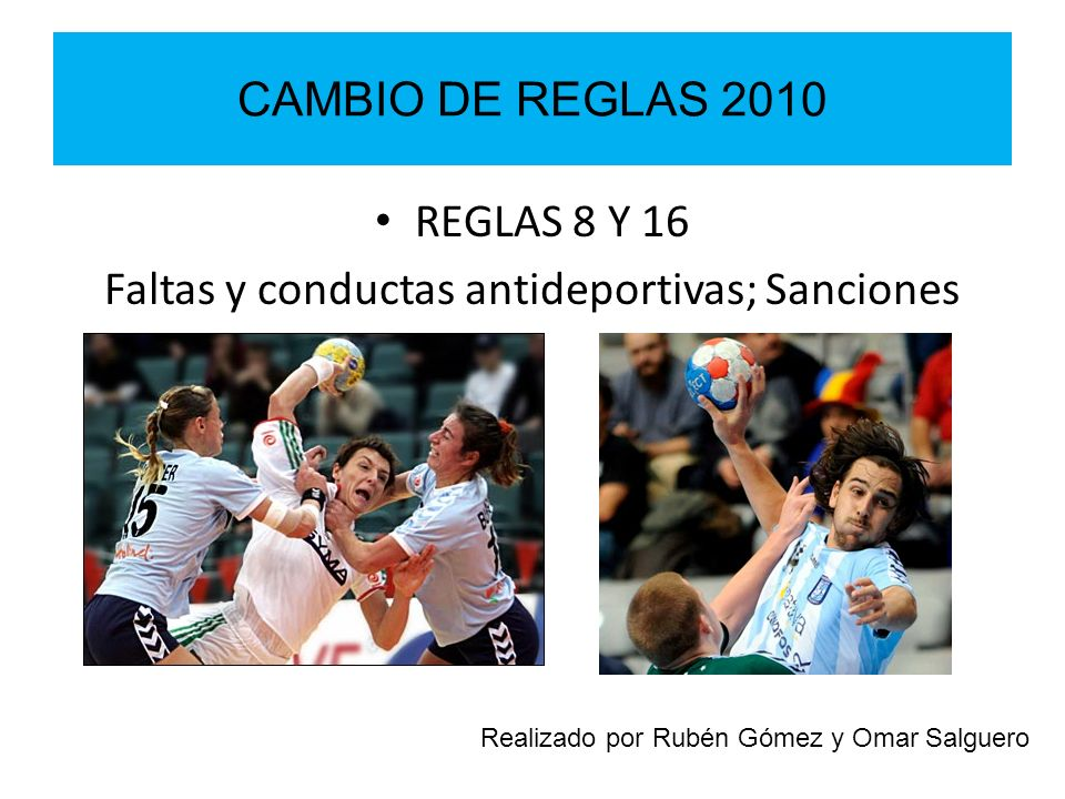 Faltas y conductas antideportivas; Sanciones