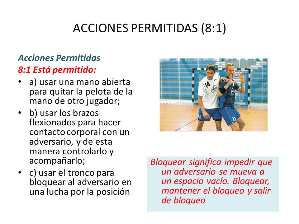 ACCIONES PERMITIDAS (8:1)