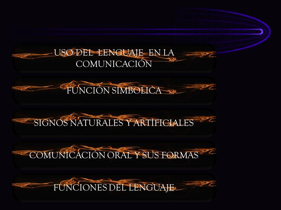USO DEL LENGUAJE EN LA COMUNICACIÓN