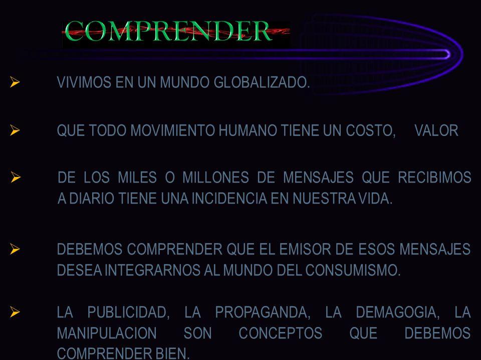 COMPRENDER VIVIMOS EN UN MUNDO GLOBALIZADO.