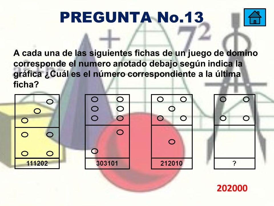 PREGUNTA No.13