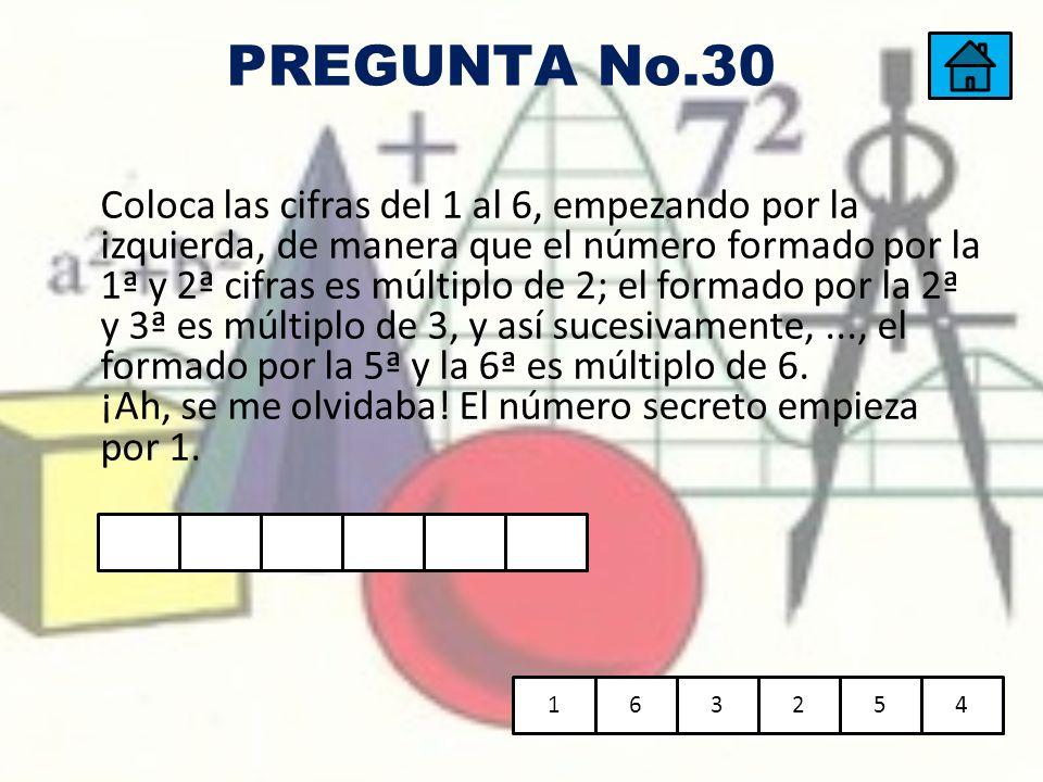 PREGUNTA No.30