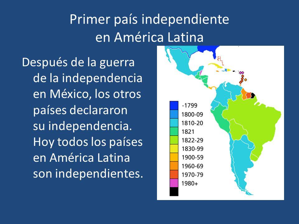 Primer país independiente en América Latina