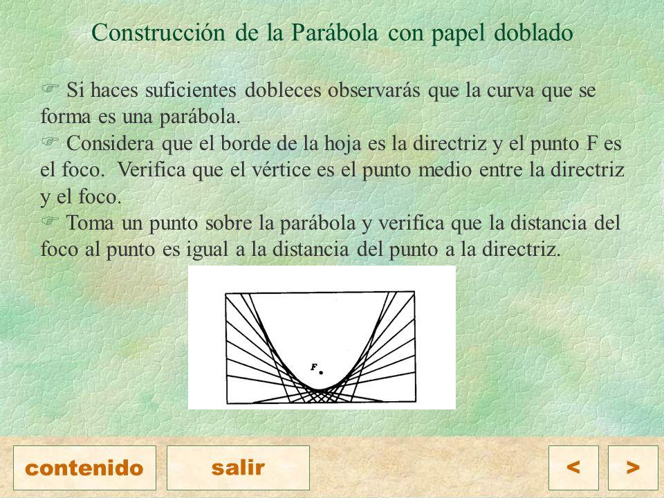 Construcción de la Parábola con papel doblado