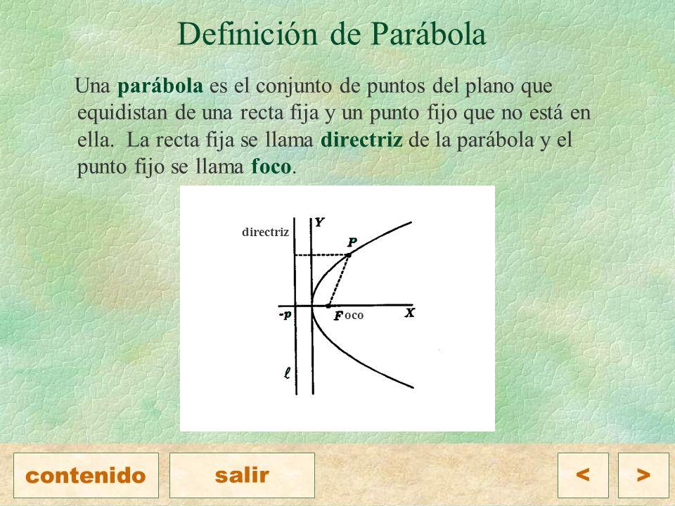 Definición de Parábola
