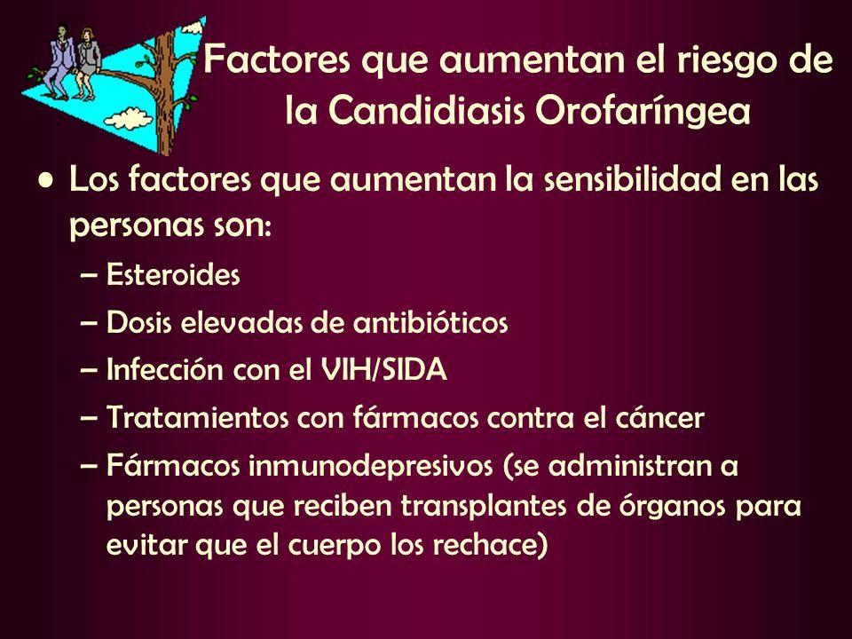 Factores que aumentan el riesgo de la Candidiasis Orofaríngea