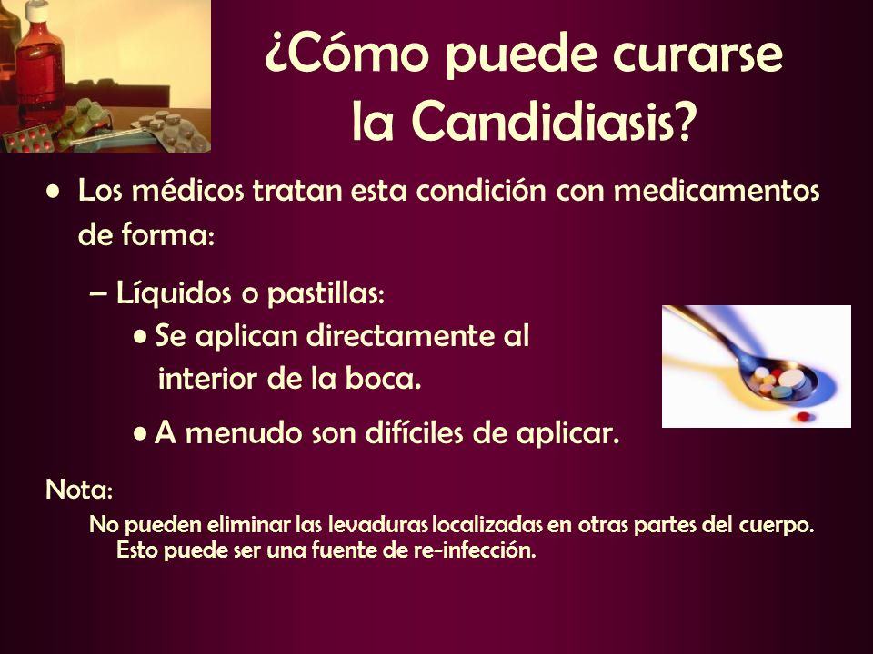 ¿Cómo puede curarse la Candidiasis