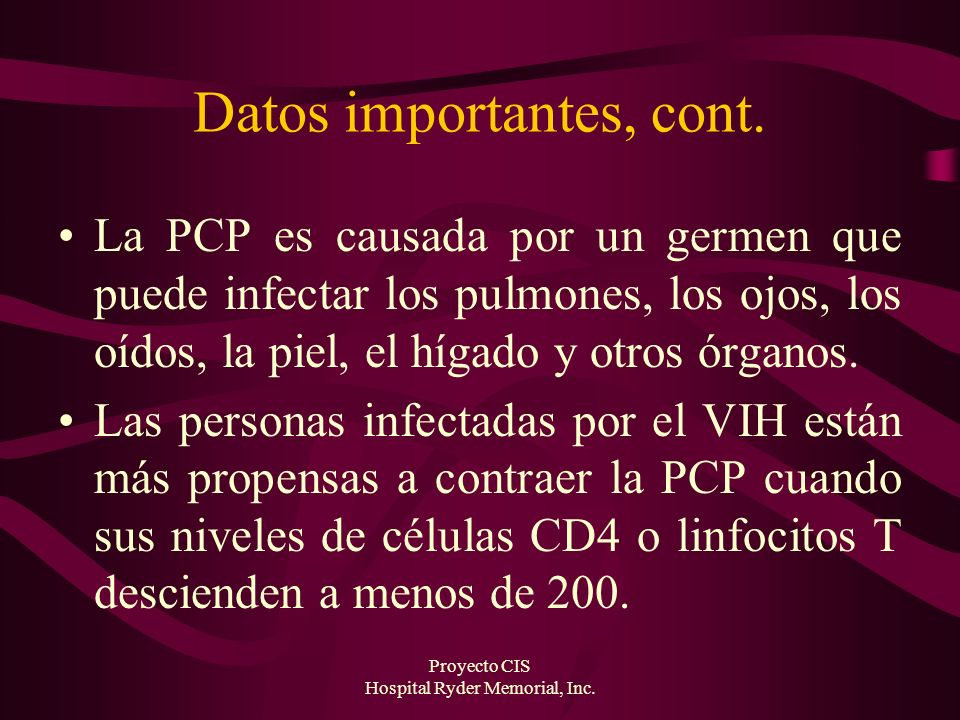 Datos importantes, cont.