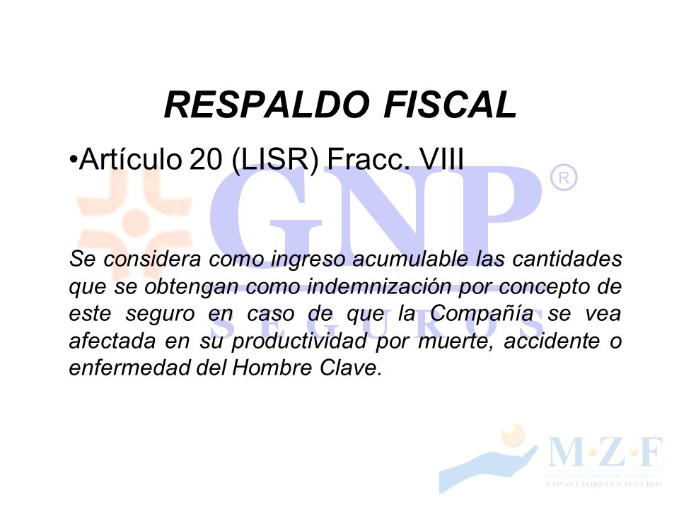 RESPALDO FISCAL Artículo 20 (LISR) Fracc. VIII