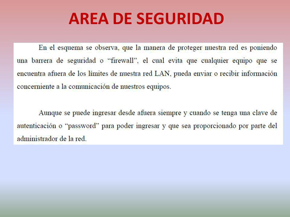 AREA DE SEGURIDAD