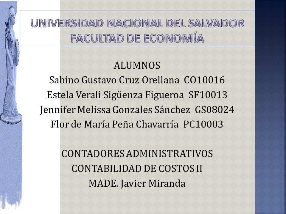UNIVERSIDAD NACIONAL DEL SALVADOR facultad de economía