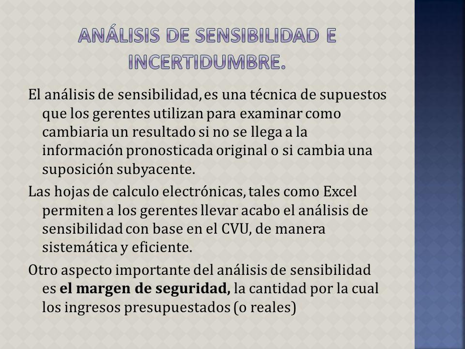 Análisis de sensibilidad e incertidumbre.