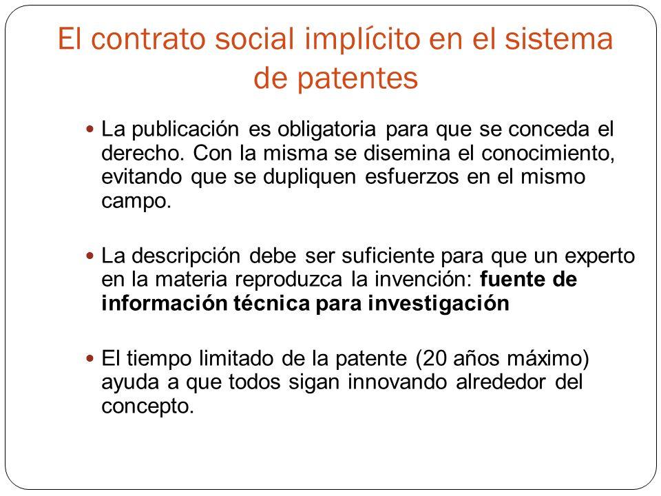 El contrato social implícito en el sistema de patentes