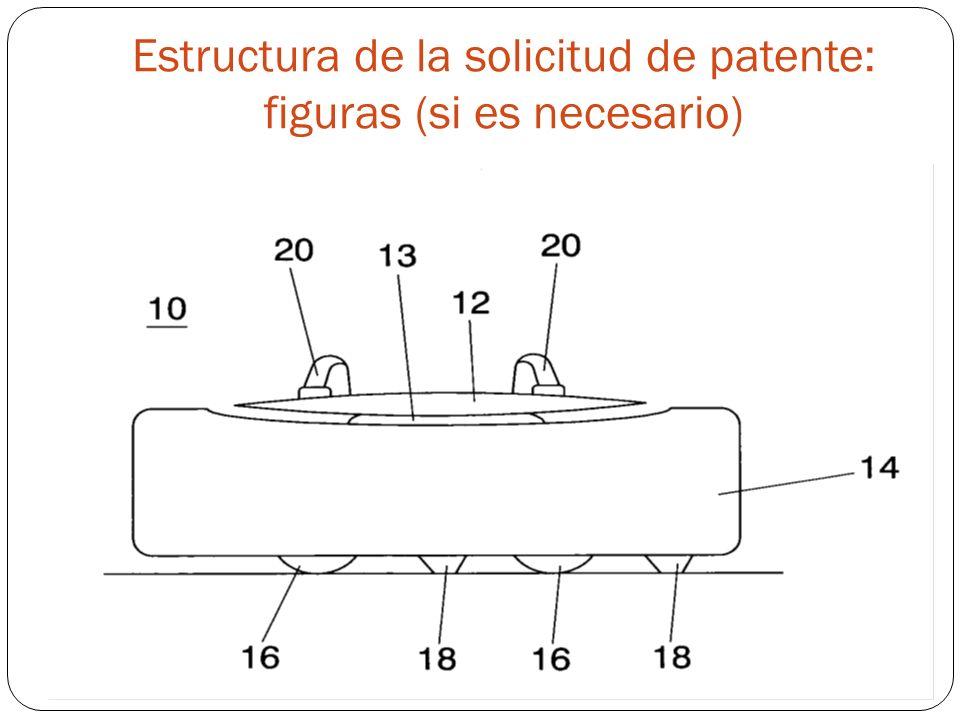 Estructura de la solicitud de patente: figuras (si es necesario)