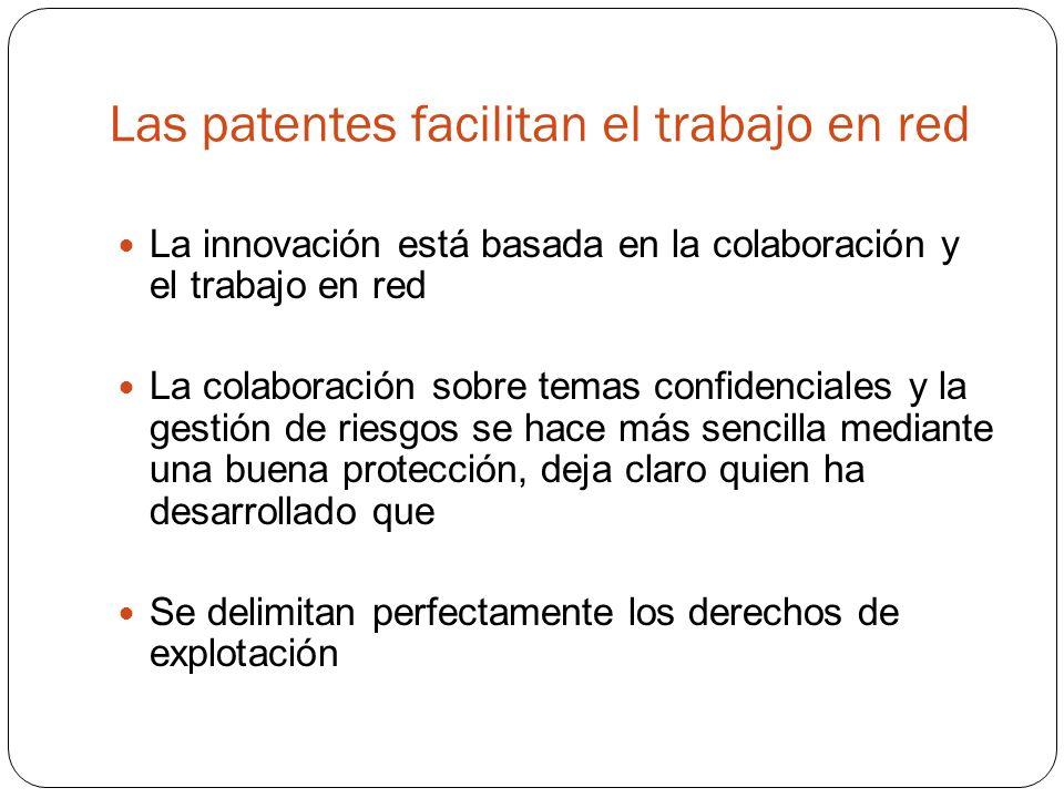 Las patentes facilitan el trabajo en red