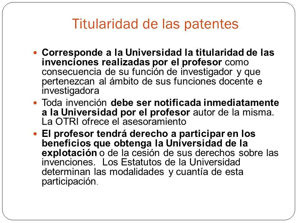Titularidad de las patentes