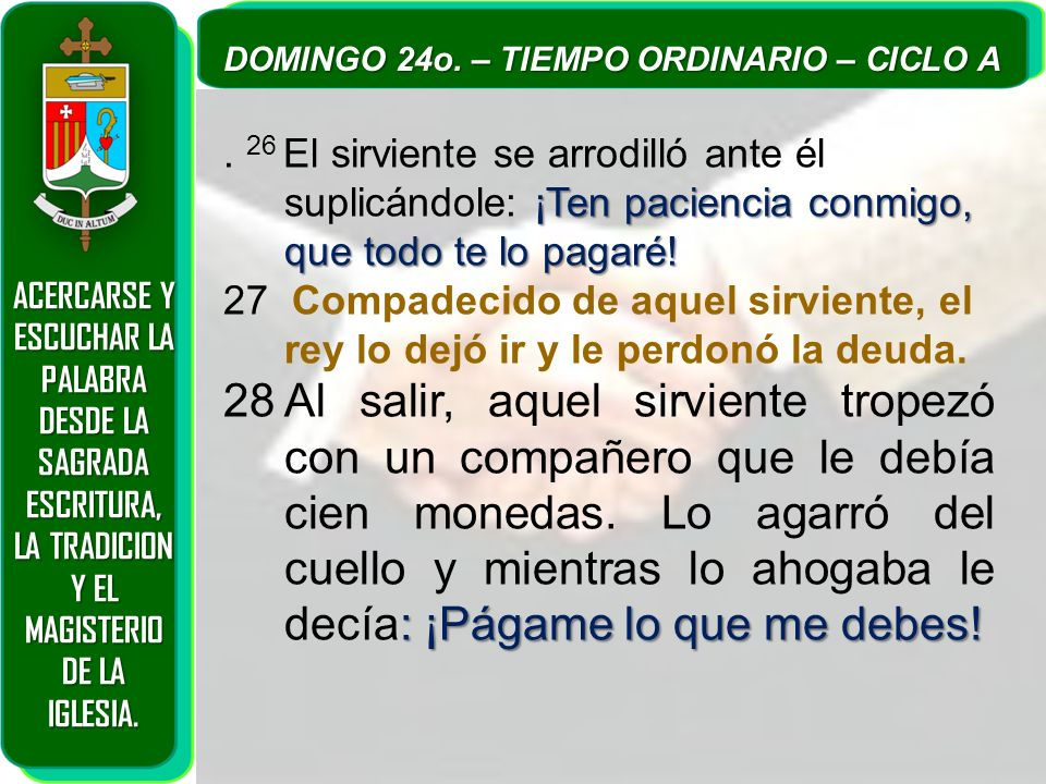 ACERCARSE Y ESCUCHAR LA PALABRA