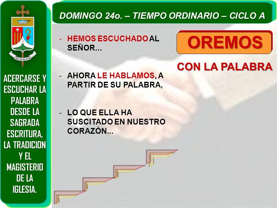 OREMOS CON LA PALABRA ACERCARSE Y ESCUCHAR LA PALABRA