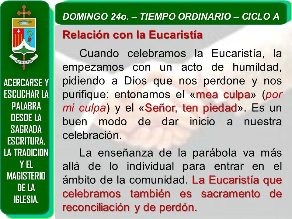 Relación con la Eucaristía