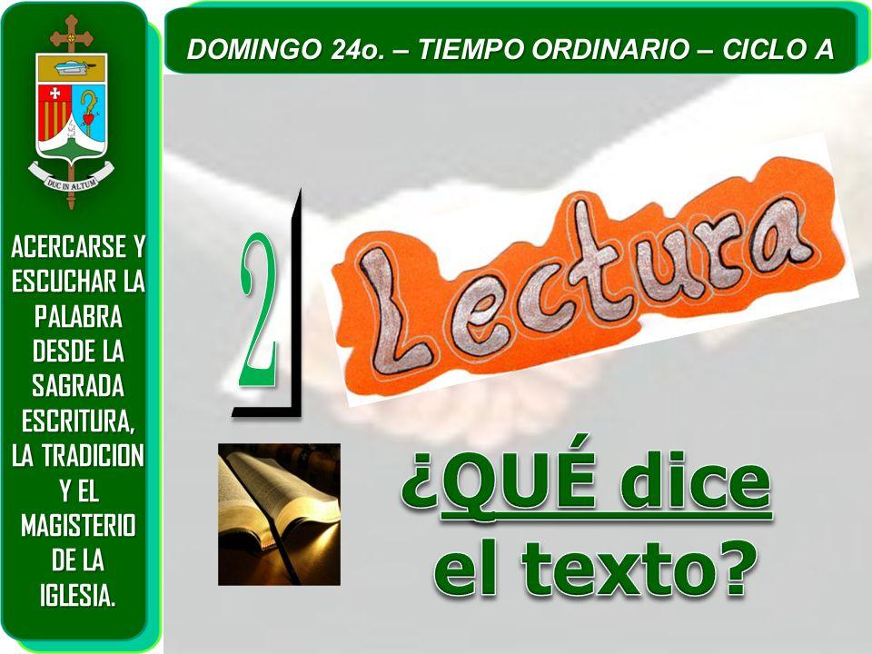 ¿QUÉ dice el texto 2 ACERCARSE Y ESCUCHAR LA PALABRA